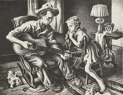 Thomas Hart Benton, 'The Music Lesson', 1943
