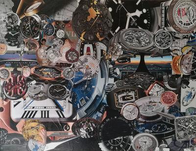 Nathalie Le Hesran, 'collage Le Temps', 2019