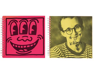 "Keith Haring, '""Self Portrait"", Signed/Doodle, Tony Shafrazi Exhibition Catalogue First Edition (1982), Signed/Dated (1987) with Doodle, UNIQUE', 1987"