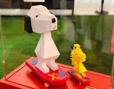 Nina Chanel Abney, 'Peanuts Global Collective (Snoopy and Woodstock)', 2020