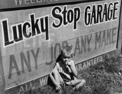 Margaret Bourke-White, 'Lucky Stop Garage', 1936