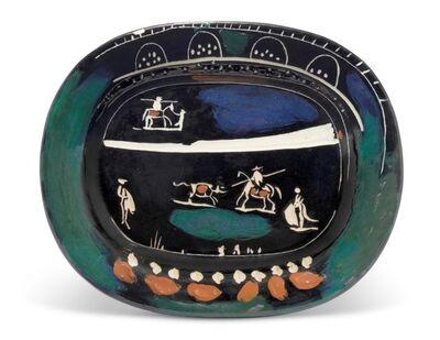 Pablo Picasso, 'Madoura, Corrida verte, Glazed ceramic plate, Ramie 81', 1940-1949