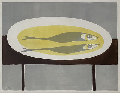 William Scott (1913-1989), 'Fish on a Plate', 1951