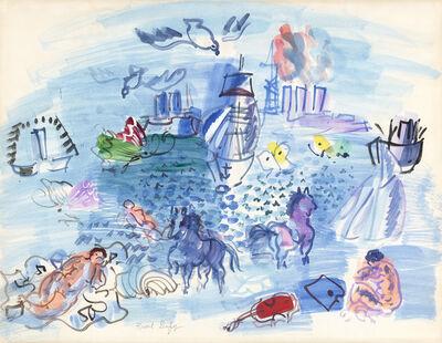 Raoul Dufy, 'Baigneuses et chevaux marins', ca. 1928