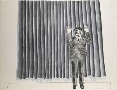 David Hockney, 'Figure by a Curtain', 1964