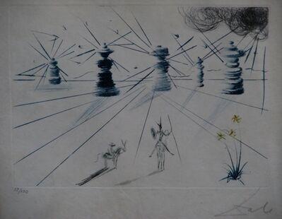 Salvador Dalí, 'Don Quichotte et les Moulins a vent ', 1969