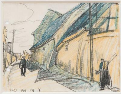 Lyonel Feininger, 'Straßenszene', 1911