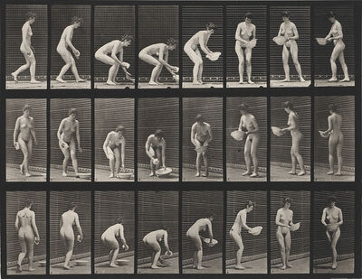 Eadweard Muybridge, 'A selection of 11 plates from the classic series Animal Locomotion showing women in motion', 1887