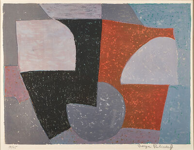 Serge Poliakoff, 'Composition in Gray, Red and Green'