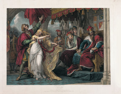 Benjamin West, 'Shakespeare engraving: Hamlet Act IV, Scene V from the Boydell Gallery, 1798-1802', 1802