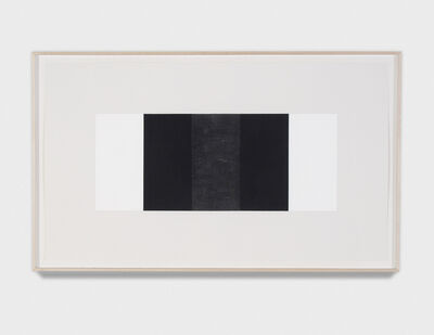 Mary Corse, 'Untitled (Black vertical Band, Black Outer Bands) ', 2001