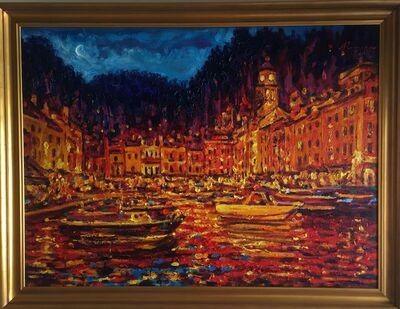 Alexander Evgrafov, 'Portofino Moonlight - Original oil on canvas painting by Alexander Evgrafov', 2014