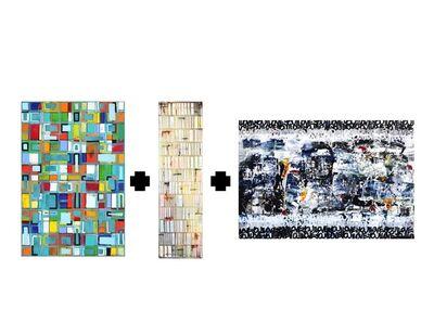 "Petra Rös-Nickel, '""Pattern Blue"" + ""Happy White Stripes"" + Amber Goldhammer ""New York State of Mind"" Bundle', 2018-2019"