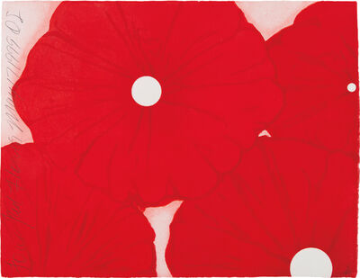 Donald Sultan, 'Four Red Flowers, May 17, 1999', 1999