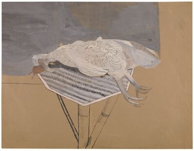 Lucian Freud, 'Dead Bird on a Bamboo Table', 1944