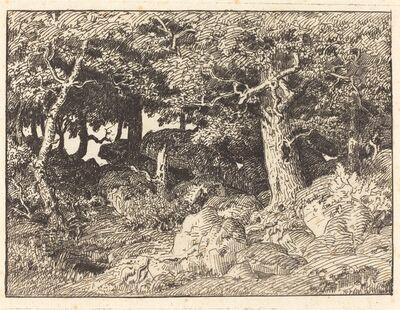 Théodore Rousseau, 'Rock Oaks', 1861
