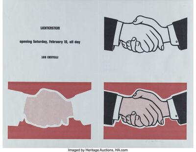 Roy Lichtenstein, 'Handshake (Castelli mailer)', 1962
