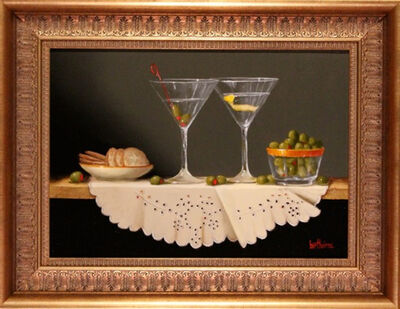Bert Beirne, 'Two Martinis (dimensions are with frame)'
