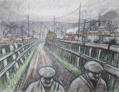Norman Cornish, 'Walking home'