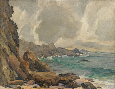 Gustave Cimiotti, 'Untitled (Rocky Coastal Scene)'