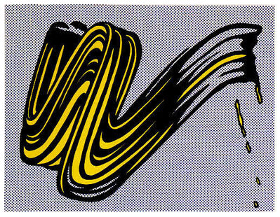Roy Lichtenstein, 'Brushstroke,', 1995