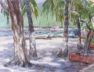 Donna Dickson, 'Among the Palms'