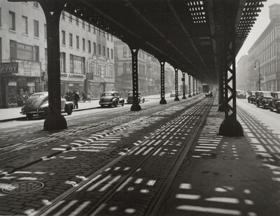 Todd Webb, 'Under the El, Third Avenue, New York', 1946