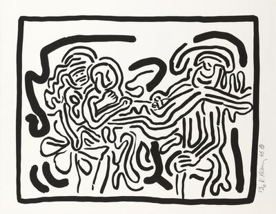 Keith Haring, 'Bad Boys, One plate (Littmann p.57)', 1986