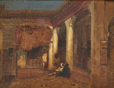 Louis Comfort Tiffany, 'Moorish Café in a Court at Tangiers, Africa (framed)'