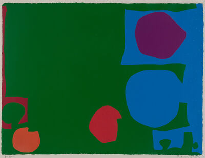 Patrick Heron, 'THREE REDS, GREEN AND MAGENTA IN BLUE', 1970
