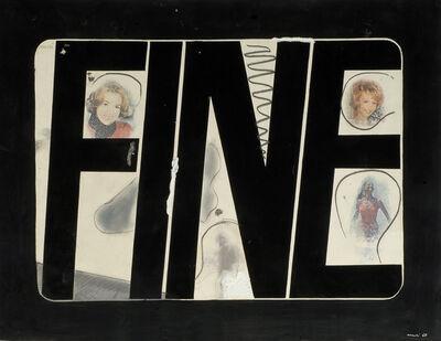 Fabio Mauri, 'Schermo fine (Screen end)', 1965