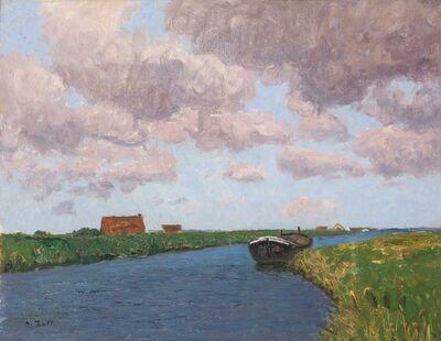 Alfred Zoff, 'Summer Landscape in Belgium', ca. 1925