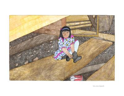 Kudluajuk Ashoona, 'Untitled (Girl Putting on her Boot)', 2019