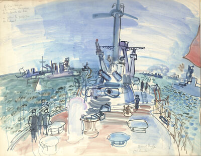 "Raoul Dufy, 'The Battleship ""Provence,"" First Squadron (Le cuirassé ""Provence,"" première escadre)'"