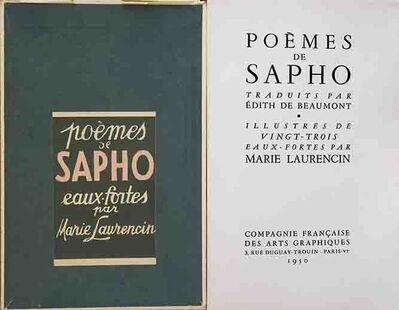 Marie Laurencin, 'Poèmes de Sapho', 1950