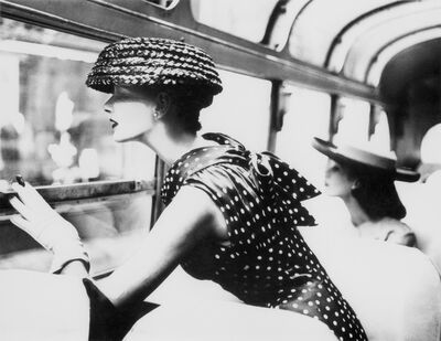 Lillian Bassman, 'More Fashion Mileage Per Dress, Barbara Vaughn, dress by Filcol, New York', 1956