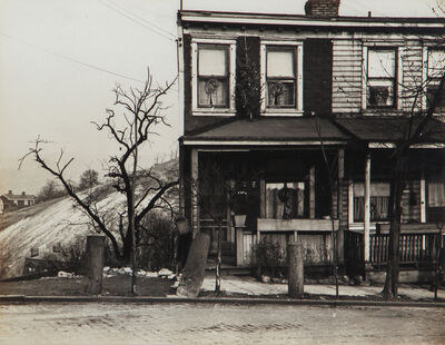 Luke Swank, 'Untitled (rowhouse with hill in background)', 1930-1943
