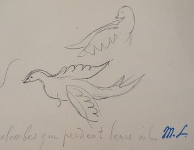 Marie Laurencin, 'Two Doves', 20th  Century