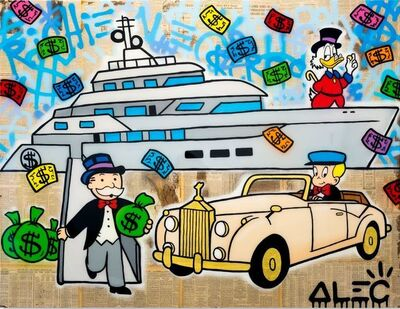 Alec Monopoly, 'Monopoly Yacht Rolls ', 2019