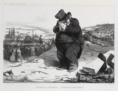 Honoré Daumier, 'Enfoncé Lafayette!…Attrape mon vieux!', 1834