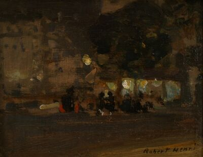 Robert Henri, 'Nocturne Cafe', ca. 1900