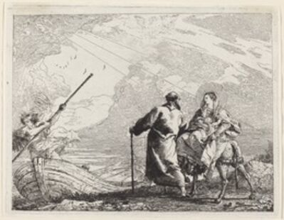 Giovanni Domenico Tiepolo, 'The Holy Family at the Bank of the River', published 1753