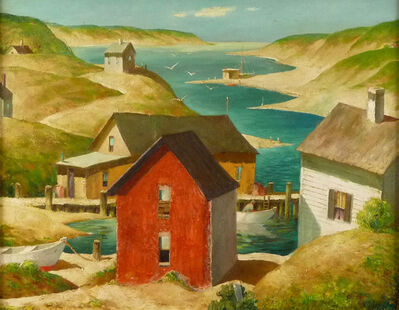Henry Gasser, 'Red Fishing Shack', ca. 1950