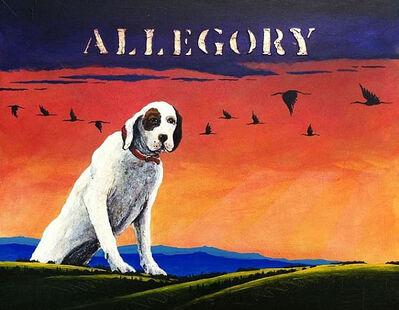 William Dunlap, 'White Dog Allegory I Study', 2011
