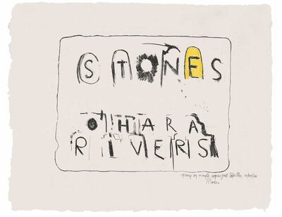 Larry Rivers, 'Stones', 1957-1959