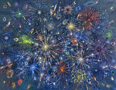 Bruno Zupan, 'Fireworks Green Comets', 2019