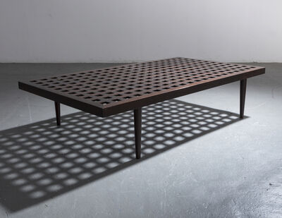 Joaquim Tenreiro, 'Checkerboard coffee table in ebonized wood.', ca. 1950