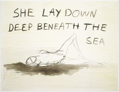 Tracey Emin, 'She Lay Down', 2011