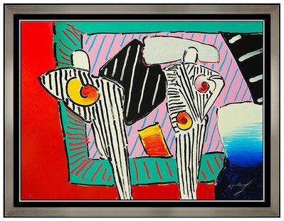 Peter Max, 'Peter Max Time Line Dega Man Large Color Screenprint Hand Signed Pop Artwork SBO', 1990