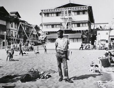 Larry Silver, 'Newsboy, Muscle Beach Santa Monica, CA', 1954